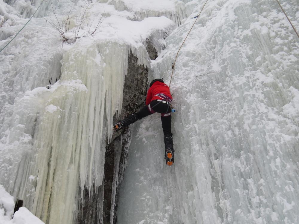 gestuelle escalade de glace