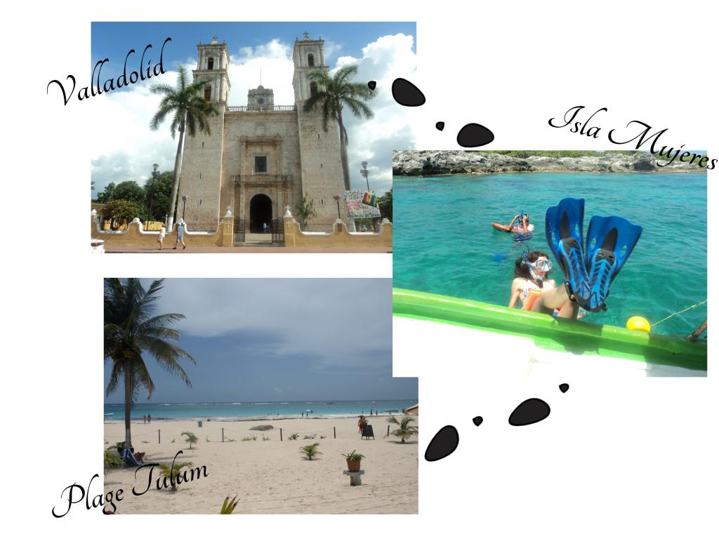 itinéraire plage yucatan