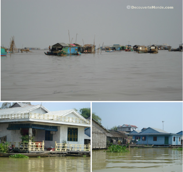lac tonle sap villages flottants