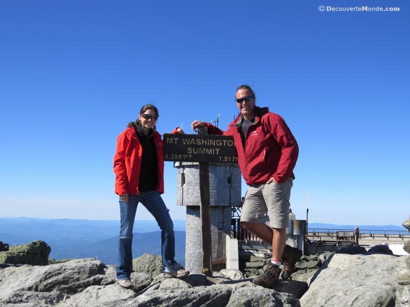 au sommet du mont washington