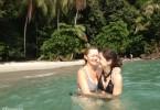avec ma mère au costa rica