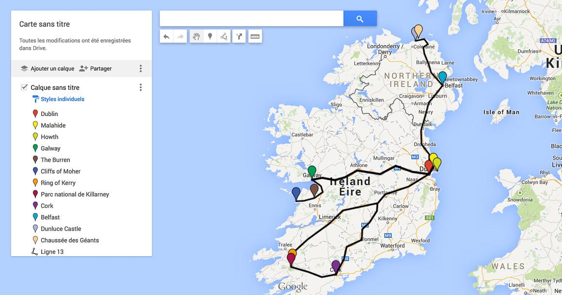 itinéraire Irlande