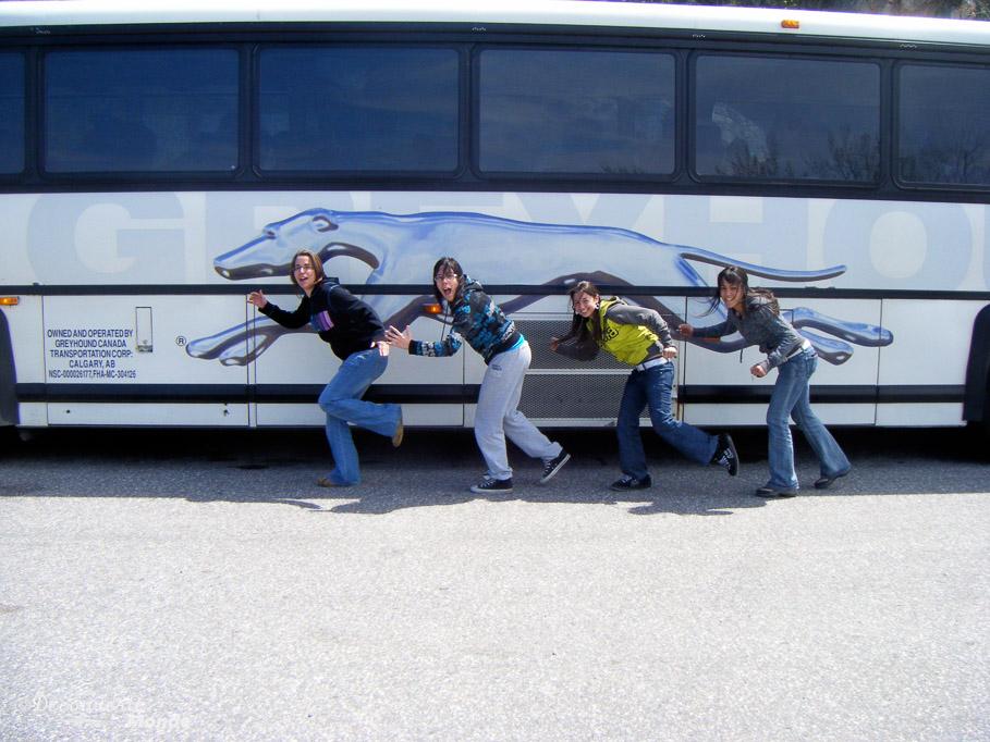 traverser le Canada bus