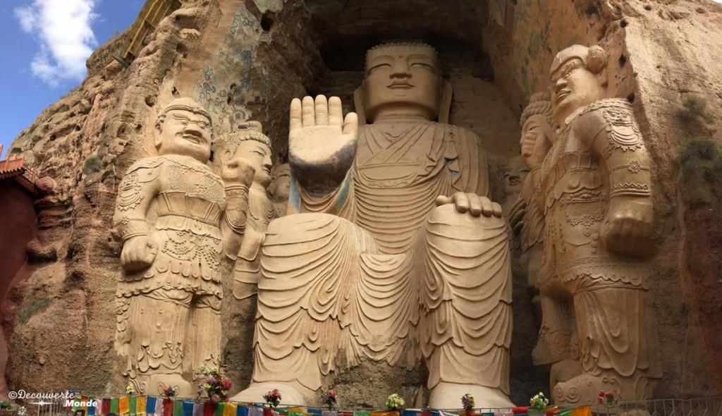 tiantishan bouddha route de la soie