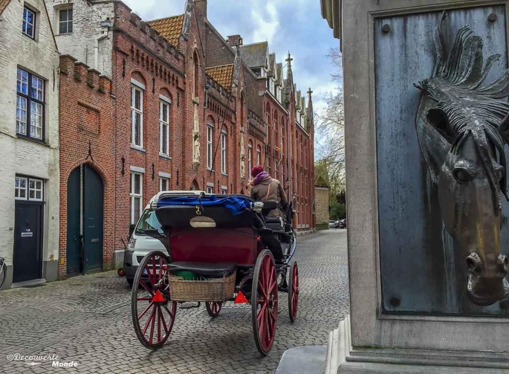 calèche ville de Bruges