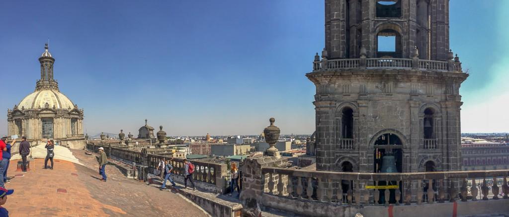 toit cathédrale ville de mexico DF