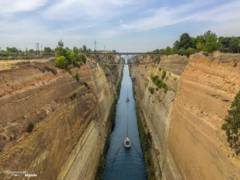 visiter la Grèce canal corinthe