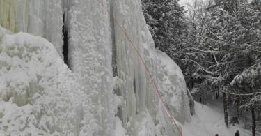 parois d'escalade de glace