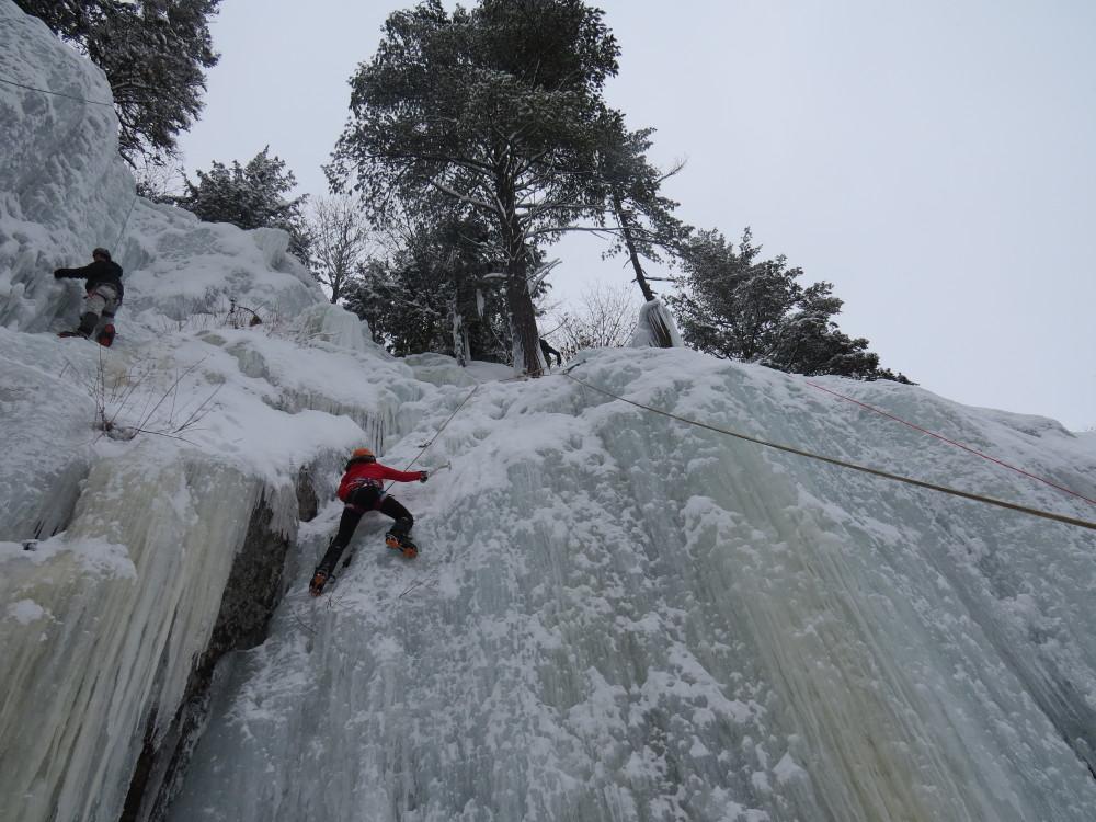 grimper mur de glace