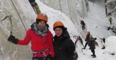 rachel et nancy escalade de glace