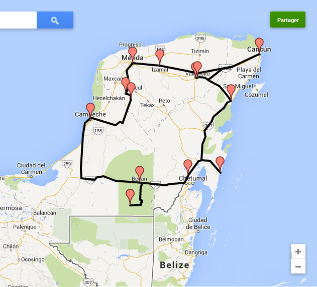 itinéraire yucatan
