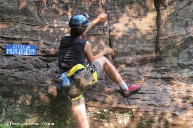 mur ouest escalade de roche