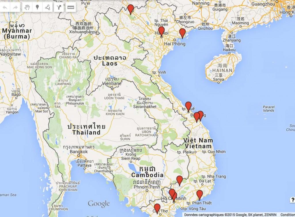 carte incontournables vietnam