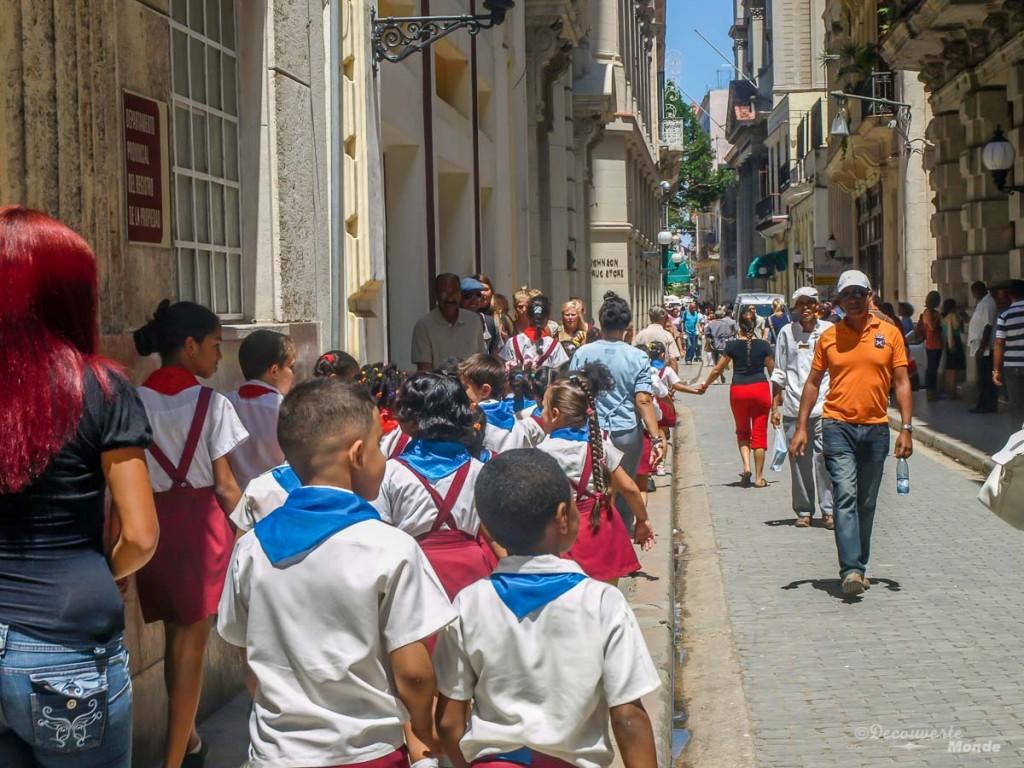 écoliers La Havane