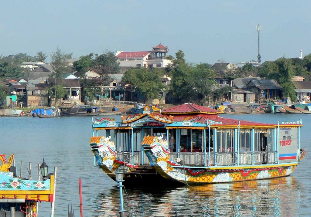 Dragon boat Hue Vietnam