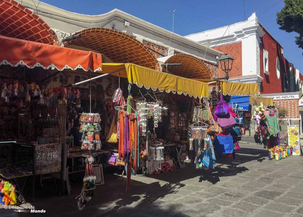 marché artisanat puebla au mexique