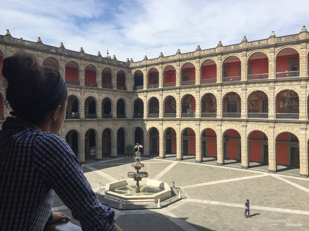 palacio national ville de mexico DF
