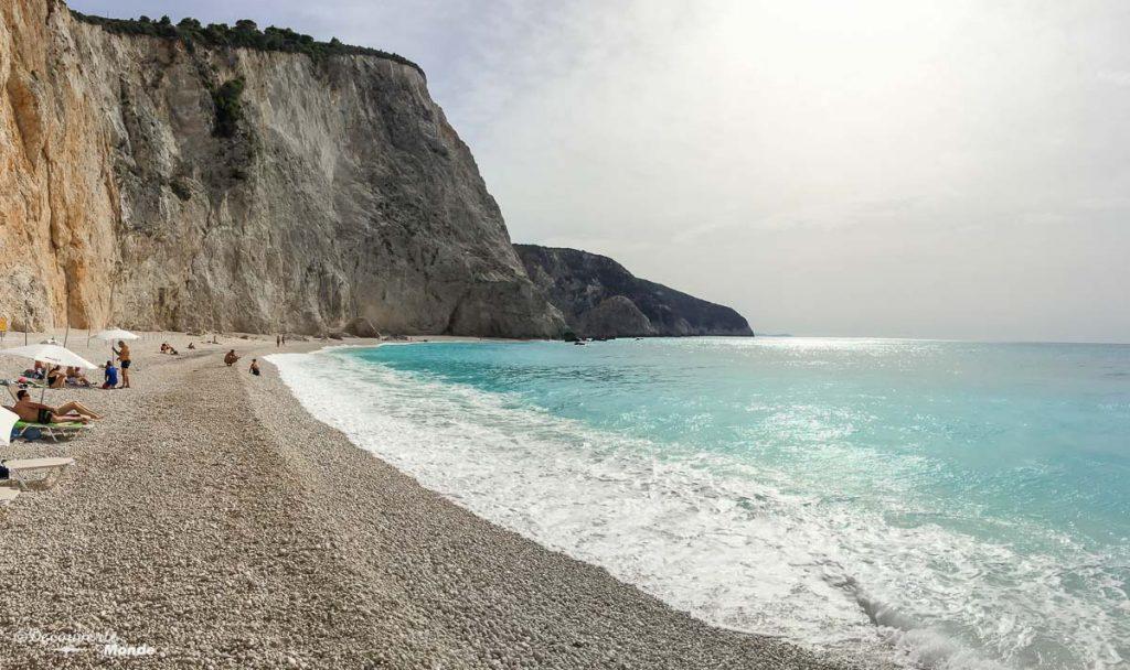 mer méditerranée plage lefkada grèce