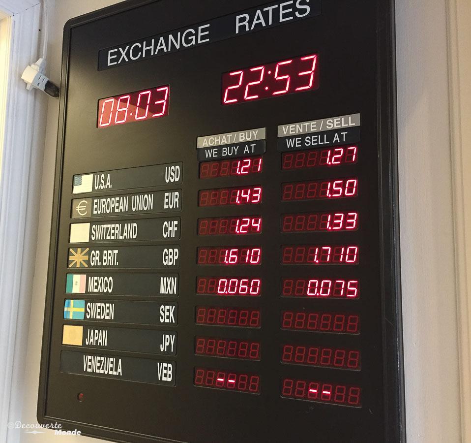 changer ses devises taux de change