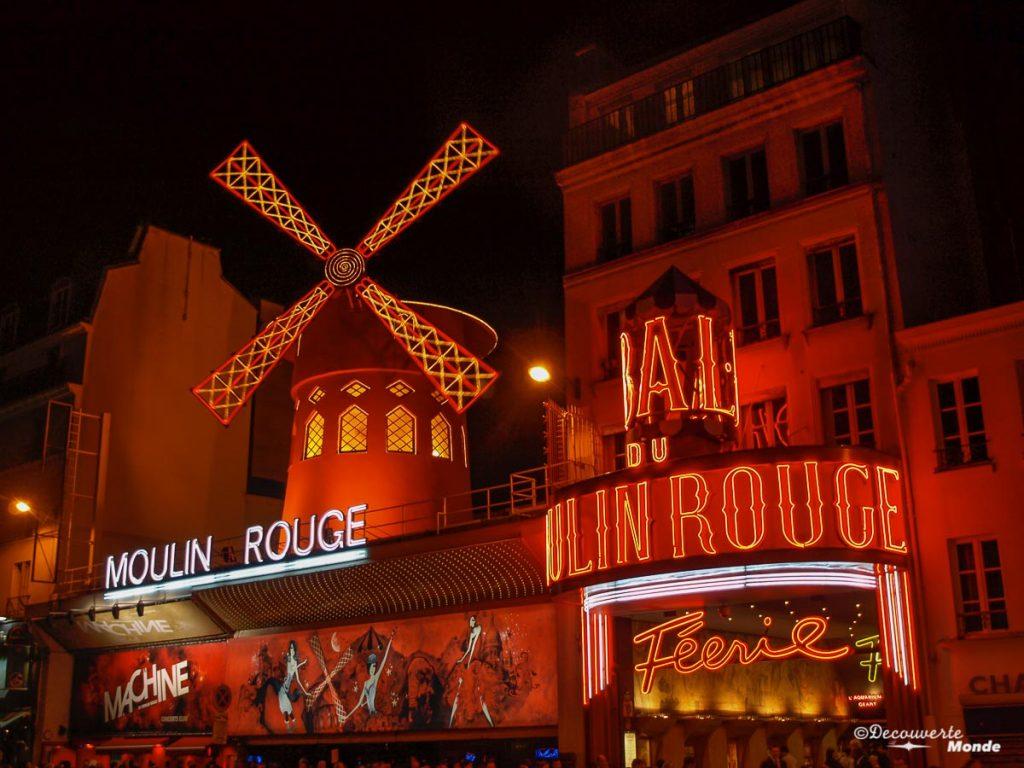 moulin rouge à voir à Paris