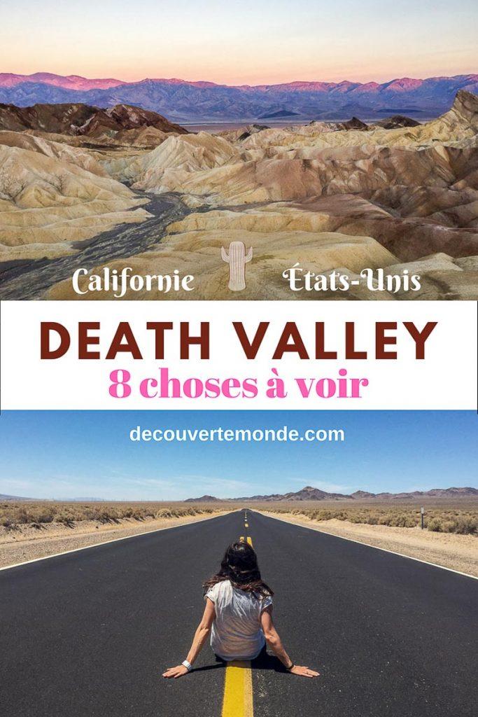Retrouvez mon article Visiter DEATH VALLEY : 8 choses de la Vallée de la Mort à faire et voir. #deathvallee #valleedelamort #parcsnationaux #desert #voyage #californie #california #usa #etatsunis #amerique #raodtrip