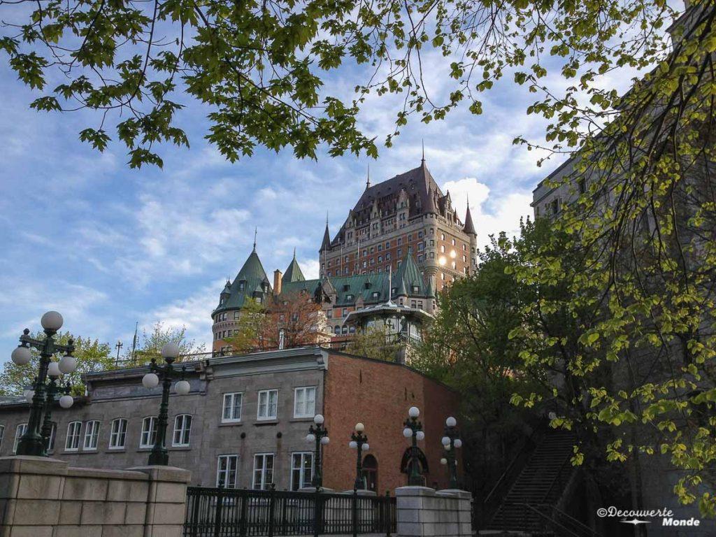 Château Frontenac road trip au Québec