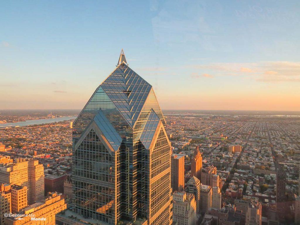 Que faire à Philadelphie et visiter en 10 coups de coeur. Ici la vue de la One Liberty Tour. Retrouvez l'article ici: https://www.decouvertemonde.com/quoi-faire-a-philadelphie-visiter