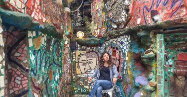 Quoi faire à Philadelphie et visiter en 10 coups de coeur. Ici au Magic Garden. Retrouvez l'article ici: https://www.decouvertemonde.com/quoi-faire-a-philadelphie-visiter