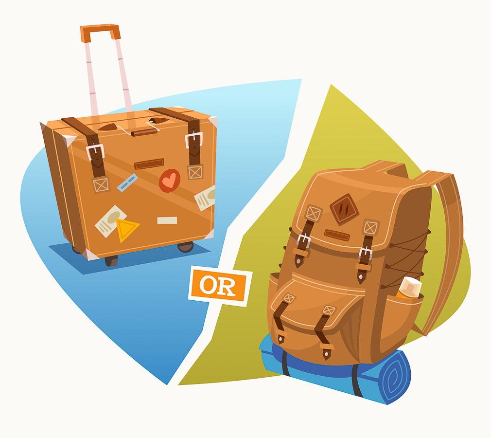 sac ou valise bagage
