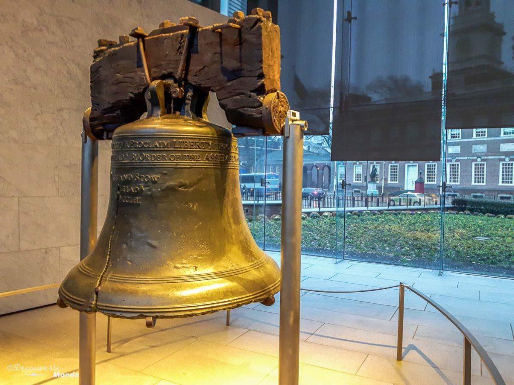 Que faire à Philadelphie et visiter en 10 coups de coeur. Ici la Liberty Bell. Retrouvez l'article ici: https://www.decouvertemonde.com/quoi-faire-a-philadelphie-visiter
