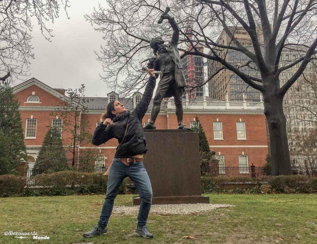 Que faire à Philadelphie et visiter en 10 coups de coeur. Ici dans le quartier historique de Old City. Retrouvez l'article ici: https://www.decouvertemonde.com/quoi-faire-a-philadelphie-visiter