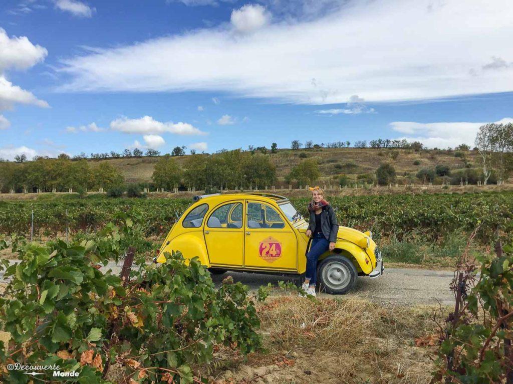 Visiter l'Aude pays Cathare en 7 idées de choses à faire. Visite des vignobles en 2CV. Retrouvez l'article ici: https://www.decouvertemonde.com/visiter-l-aude-pays-cathare