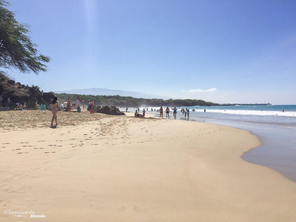 Big Island : Mon voyage de 10 jours sur la plus grande des îles d'Hawaii. Ici la plage d'Hapuna. Retrouvez l'article ici: https://www.decouvertemonde.com/big-island-voyage-iles-hawaii