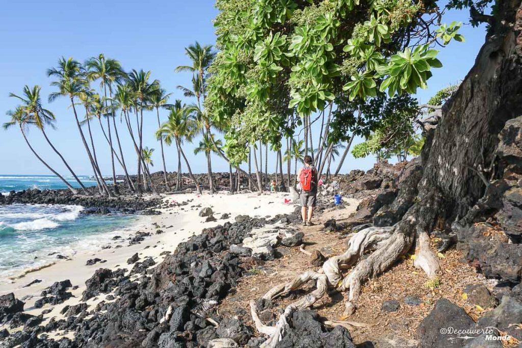 Big Island : Mon voyage de 10 jours sur la plus grande des îles d'Hawaii. Ici au Kekaha kai park. Retrouvez l'article ici: https://www.decouvertemonde.com/big-island-voyage-iles-hawaii