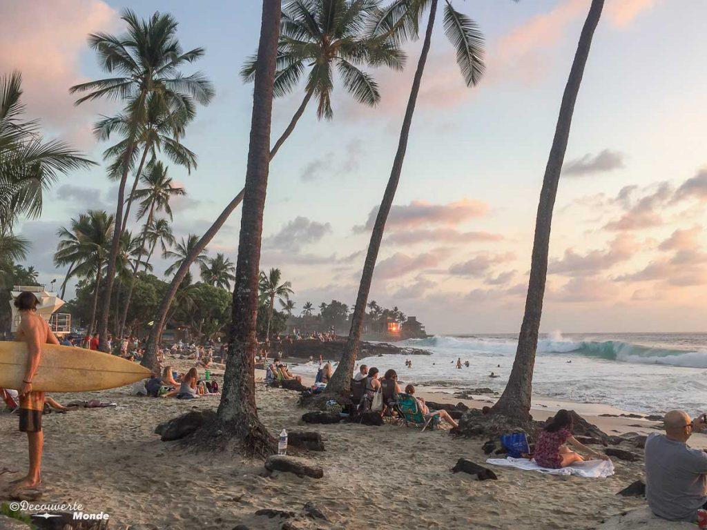 Big Island : Mon voyage de 10 jours sur la plus grande des îles d'Hawaii. Ici sur la plage Magic Sands beach. Retrouvez l'article ici: https://www.decouvertemonde.com/big-island-voyage-iles-hawaii