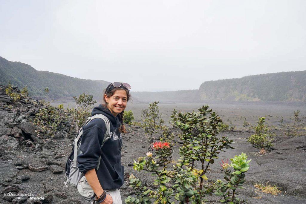 Big Island : Mon voyage de 10 jours sur la plus grande des îles d'Hawaii. Ici en randonnée sur la Kilauea Iki trail dans le parc des volcans. Retrouvez l'article ici: https://www.decouvertemonde.com/big-island-voyage-iles-hawaii