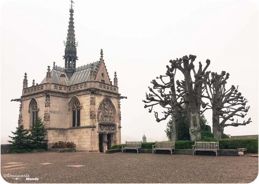 La chapelle où se trouve le corps de Leonardo da Vinci au château d'Amboise en France. Photo tirée de mon article Châteaux de France : Mes découvertes au fil de mes voyages. #france #europe #voyage #chateau #amboise