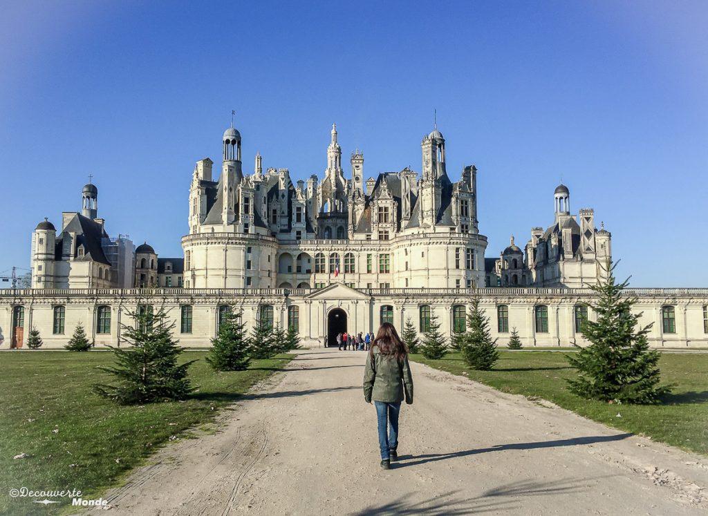 Le château de Chambord en France. Photo tirée de mon article Châteaux de France : Mes découvertes au fil de mes voyages. #france #europe #voyage #chateau #chambord
