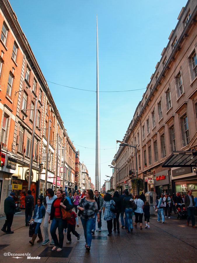 Le Spire à Dublin. Photo tirée de mon article Visiter Dublin en Irlande : Que voir et faire le temps d'un weekend. #irlande #dublin #europe