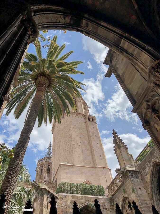 La cathédrale de Barcelone avec son cloître. Dans mon article Visiter Barcelone en Espagne : Que faire et voir le temps d'un week-end. | Que faire à Barcelone et que voir | Quoi voir à Barcelone et quoi faire | Que visiter à Barcelone | Activités à Barcelone | Où dormir à Barcelone| #barcelone #barcelona #europe #espagne #catalogne #citytrip #voyage