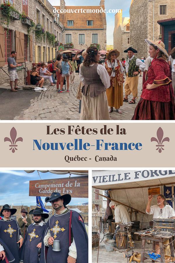 Les fêtes de la Nouvelle-France : Un festival historique à Québec. #quebec #canada #histoire #NouvelleFrance
