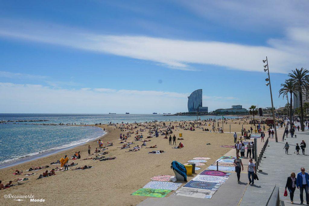 Les plages de Barcelone dans mon article Visiter la Catalogne en Espagne : Que voir et que faire en 8 lieux à visiter #espagne #catalogne #europe #barcelone #voyage