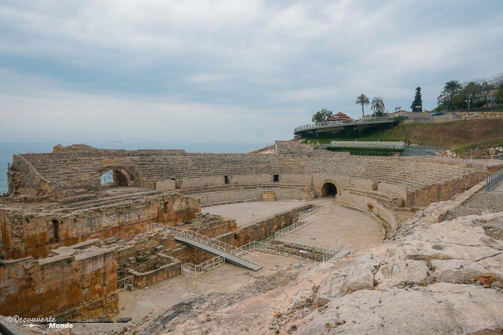 L'amphithéâtre romain de Tarragone dans mon article Visiter la Catalogne en Espagne : Que voir et que faire en 8 lieux à visiter #espagne #catalogne #europe #voyage #tarragone #costadorada