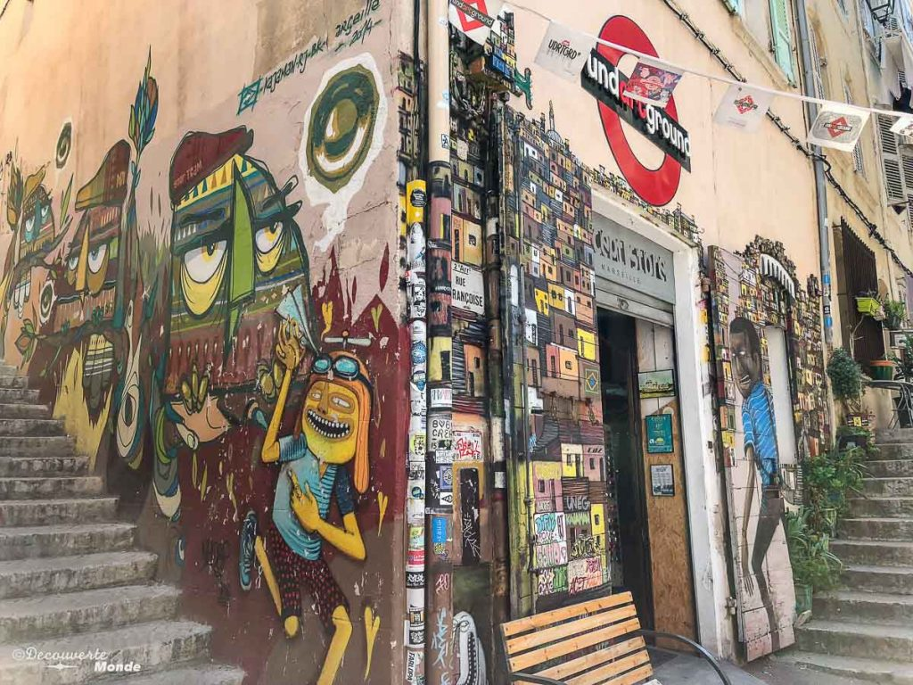 Street art dans les rues du Quartier le Panier à Marseille dans mon article Visiter Marseille : Quoi faire à Marseille et voir en une journée avec petit budget #marseille #france #europe #voyage #streetart #lepanier