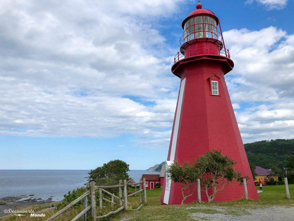 Le phare de La Marthe dans mon article Gaspésie en 10 jours : Itinéraire de mon tour de la Gaspésie en road trip #gaspesie #quebec #canada #voyage #quebecoriginal #explorecanada #phare