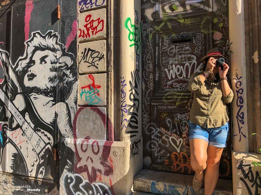 Street art aux Cours Julien à Marseille dans mon article Visiter Marseille : Quoi faire à Marseille et voir en une journée avec petit budget #marseille #france #europe #voyage #streetart