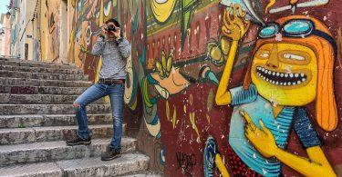 Street art dans le Quartier le Panier dans mon article Visiter Marseille : Quoi faire à Marseille et voir en une journée avec petit budget #marseille #france #europe #voyage #streetart