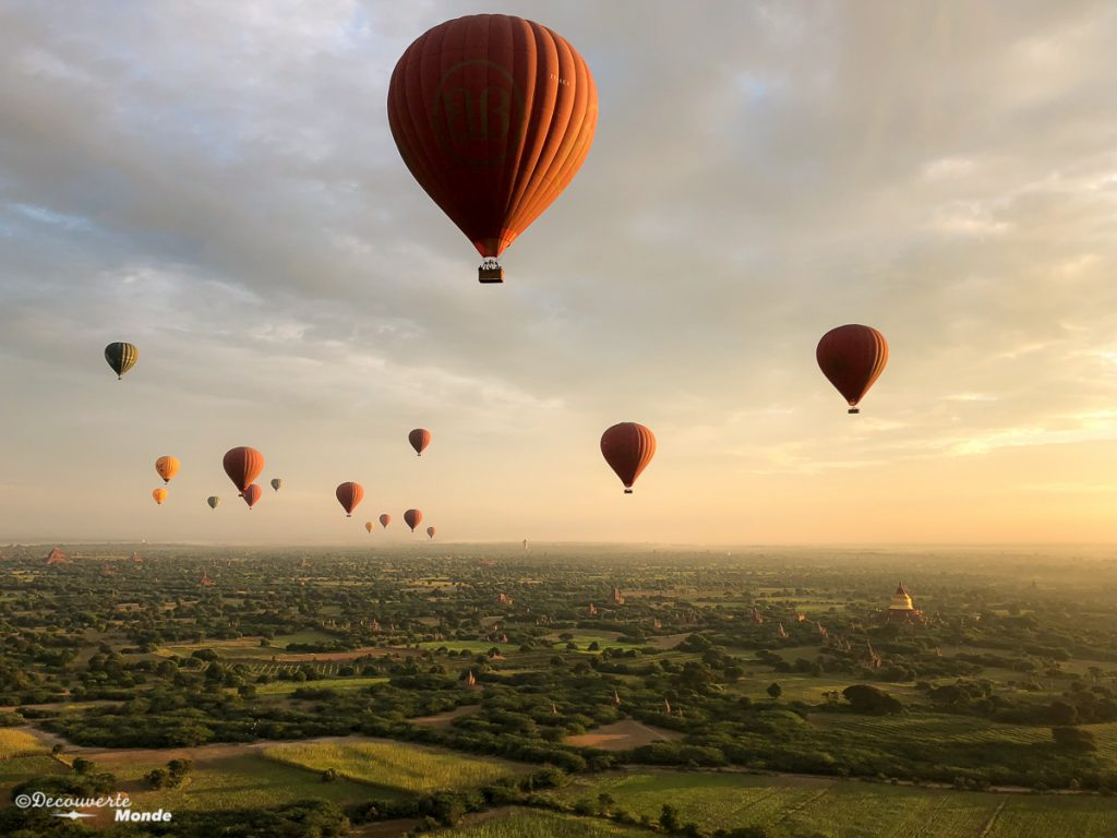 montgolfière bagan voyage myanmar