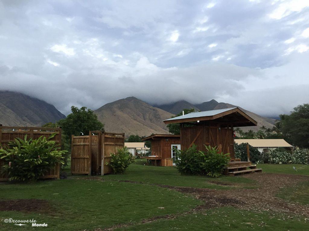 Camping du Camp Olowalu à Maui dans mon article Maui à Hawaii : Que faire en 10 jours de road trip sur l'île de Maui #maui #hawaii #hawai #etatsunis #usa #voyage #camping