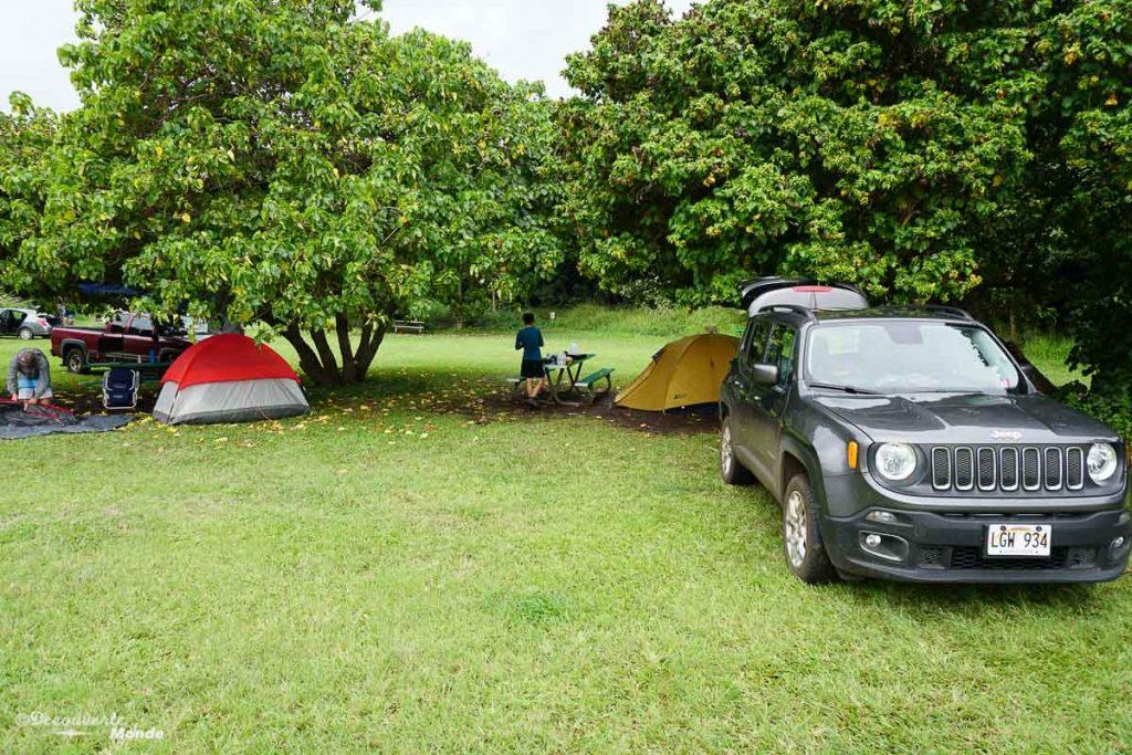 Au camping Kipahulu à Maui dans mon article Maui à Hawaii : Que faire en 10 jours de road trip sur l'île de Maui #maui #hawaii #hawai #etatsunis #usa #voyage #camping